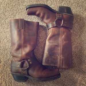 Frye Motorcycle Riding Boots-Genuine Leather